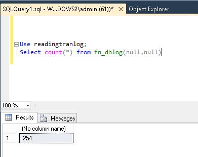 read SQL Server transaction logs