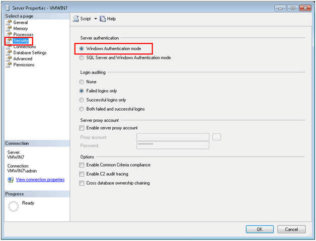 How to Inquire Authentication Mode In SQL Server?