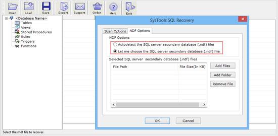 NDF file option