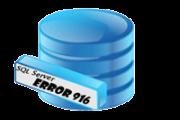 SQL Server Error 916