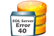 sql server error-40