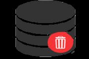 Delete SQL server database icon