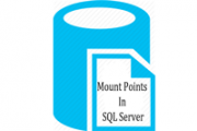 mount point in sql server