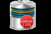 SQL Server Error 1105