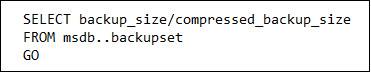 calculate the compression ratio