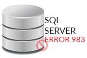 SQL Error 983