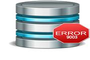 SQL Database Error 9003