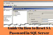 How to reset SA Password in SQL Server
